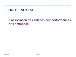DROIT SOCIAL
