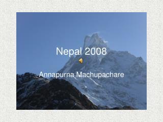 Nepal 2008