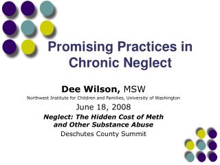 Promising Practices in Chronic Neglect