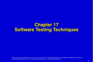 Chapter 17 Software Testing Techniques