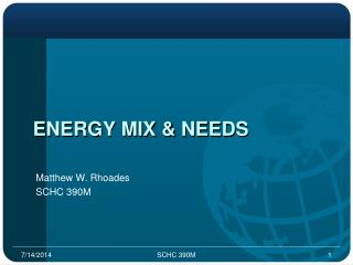 Energy Mix & Needs