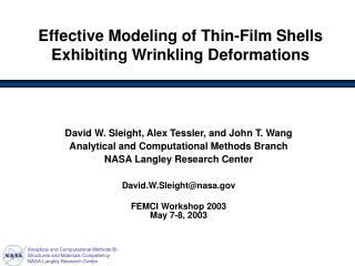 Effective Modeling of Thin-Film Shells Exhibiting Wrinkling Deformations