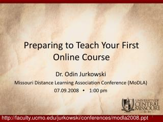 Preparing to Teach Your First Online Course