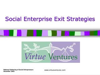 Social Enterprise Exit Strategies