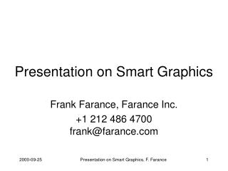 Presentation on Smart Graphics