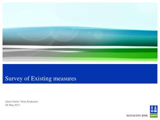 Survey of Existing measures