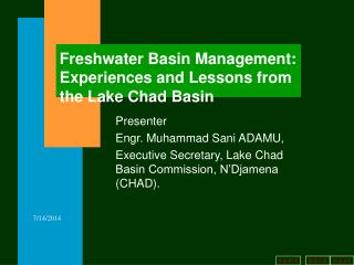 Freshwater Basin Management: Experiences and Lessons from the Lake Chad Basin