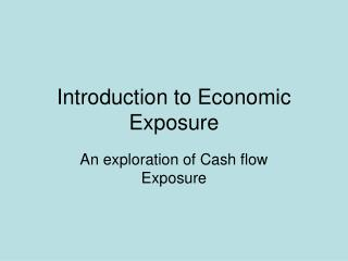 Introduction to Economic Exposure