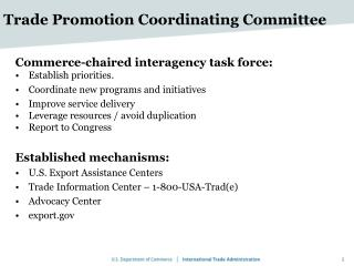 Trade Promotion Coordinating Committee