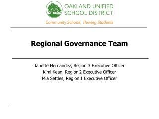 Regional Governance Team