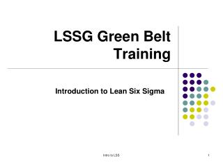 LSSG Green Belt Training
