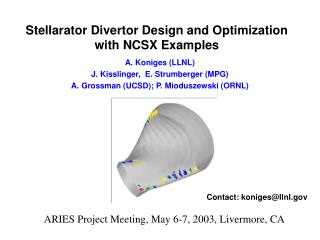 Stellarator Divertor Design and Optimization with NCSX Examples