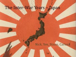 The Inter-War Years – Japan