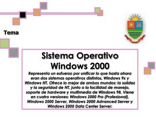 Sistema Operativo Windows 2000