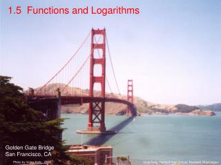 1.5  Functions and Logarithms