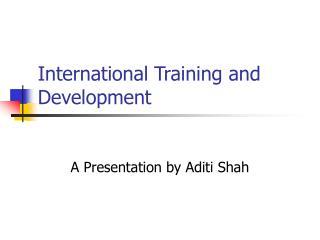 International Training and Development