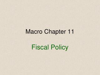 Macro Chapter 11