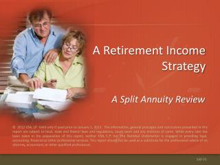 A Retirement Income Strategy