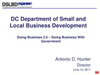 DC Department of Small and Local Business Development