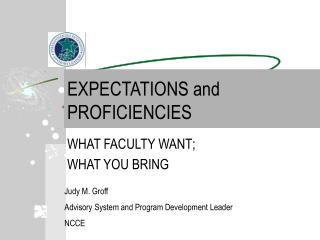EXPECTATIONS and PROFICIENCIES