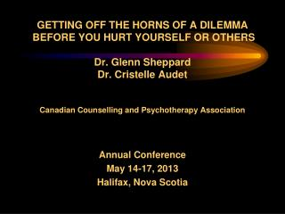 Annual Conference May 14-17, 2013 Halifax, Nova Scotia