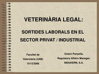 VETERINÀRIA LEGAL: