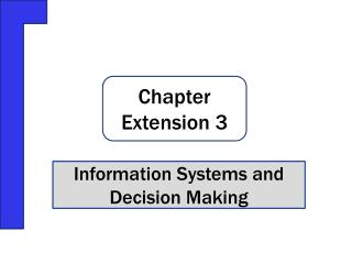 Information Systems and Decision Making
