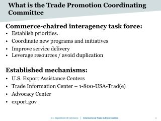 What is the Trade Promotion Coordinating Committee