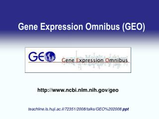 Gene Expression Omnibus (GEO)