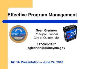 Effective Program Management