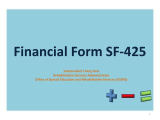 Financial Form SF-425