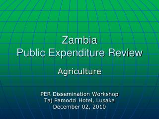 Zambia  Public Expenditure Review