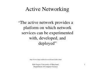 Active Networking