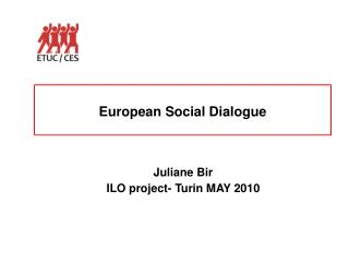 European Social Dialogue