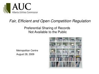 Fair, Efficient and Open Competition Regulation