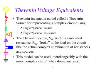 Thevenin Voltage Equivalents