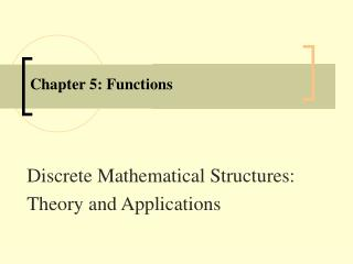 Chapter 5: Functions