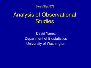 Analysis of Observational Studies