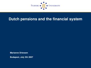 Dutch pensions and the financial system