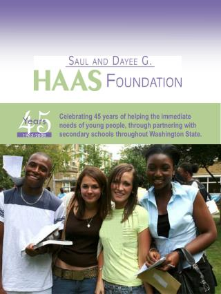 Celebrating 45 years of helping the immediate needs of young people, through partnering with secondary schools througho