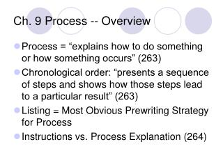 Ch. 9 Process -- Overview