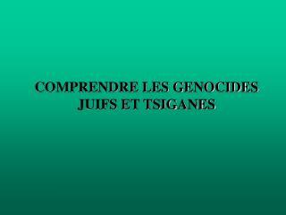 COMPRENDRE LES GENOCIDES JUIFS ET TSIGANES
