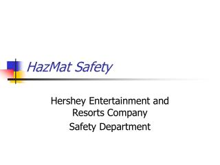 HazMat Safety