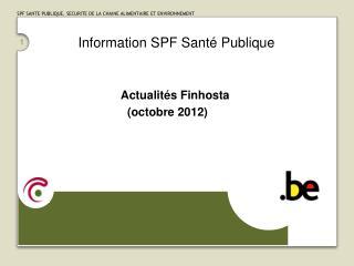 Information SPF Santé Publique