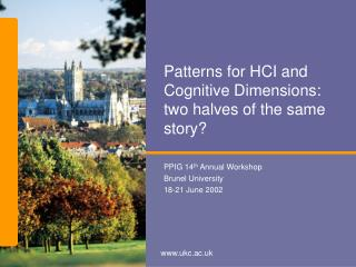 Patterns for HCI and Cognitive Dimensions: two halves of the same story?