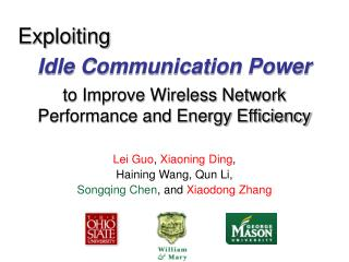 Idle Communication Power