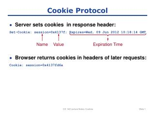 Cookie Protocol