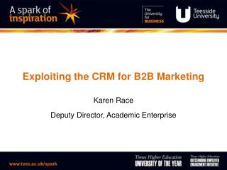 Exploiting the CRM for B2B Marketing
