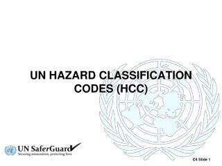 UN HAZARD CLASSIFICATION CODES (HCC)