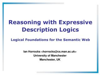 Reasoning with Expressive Description Logics